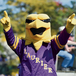 Laurier Golden Hawk mascot