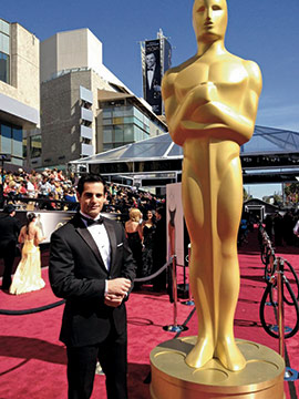 Chris on the red carpet at the Oscars