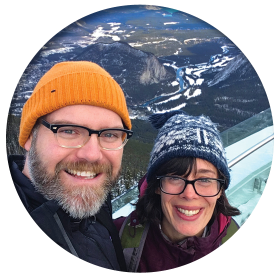Kyle and Jess at Sulphur Mountain