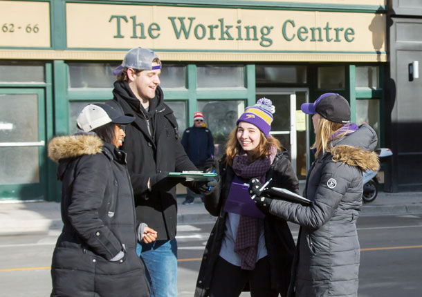Laurier students at The Working Centre in Kitchener