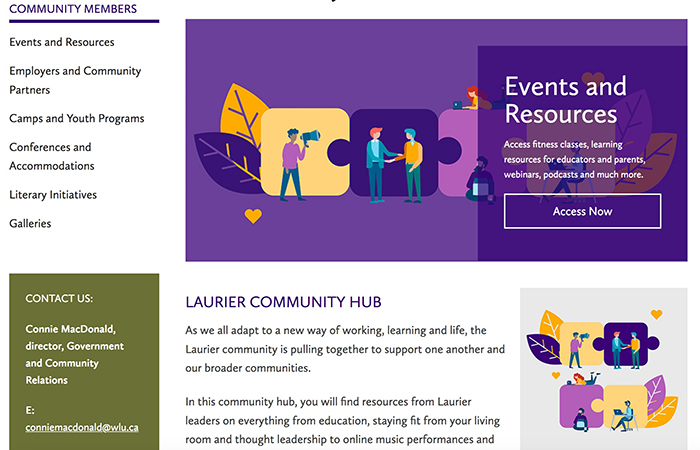 community hub website